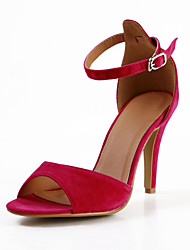 Specific Leatherette Stiletto Heel Sandals with Buckle Party\Evening Shoes(More Colors)