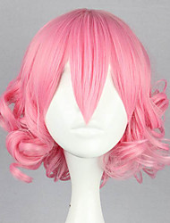 Lolita Wigs Sweet Lolita Lolita Short / Curly Pink Lolita Wig 32 CM Cosplay Wigs Solid Wig For Women