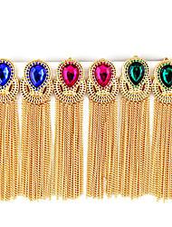 Vintage alliage Waterdrop modèle glands Boucles d'oreilles (couleurs assorties)