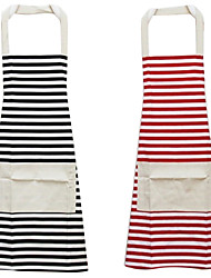 Fashion Style Stripe Pattern Sleeveless Apron