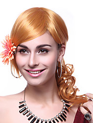Capless Top Grade Quality Synthetic Long Wavy Blonde Hair Wigs