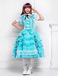 One-Piece/Dress Sweet Lolita Lolita Cosplay Lolita Dress Solid Sleeveless Lolita Dress For Cotton