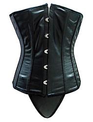 leatherette strapless busk de fecho na cintura frente chincer shapewear shaper lingerie sexy