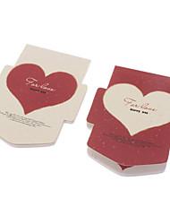 Coeur de modèle coloré bloc-notes papier (couleur aléatoire)