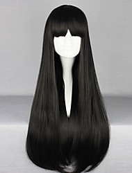 Japanese Black 70cm Long Straight Gothic Lolita Wig