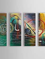 Hand Painted Oil Painting Abstract Set of 4 1307-AB0521