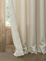 Curtain Modern , Solid Living Room Poly / Cotton Blend Material Blackout Curtains Drapes Home Decoration For Window