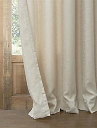 Ventana Tratamiento Moderna , Sólido Sala de estar Mezcla de Poliéster y Algodón Material Blackout cortinas cortinas Decoración hogareña