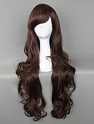 Lolita Wigs Classic/Traditional Lolita Lolita Long Chocolate Lolita Wig 75 CM Cosplay Wigs Solid Wig For Women