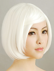 Branco Curto Bob 30 centímetros Gothic Lolita peruca