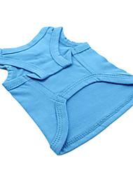 Summer Cotton T-Shirt for Dogs White / Blue / Black / Green XS / M / XL / XXS / S / L / XXL