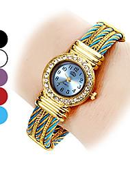 Élégant style Acier analogique bracelet montre femme quartz (couleurs assorties)