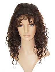 "Lace Front 100% Indian Human Hair 18"" Deep Curly Hair Wigs"