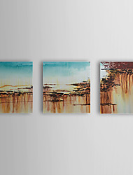Hand Painted Oil Painting Abstract Set of 3 1307-AB0456