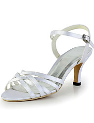 Compact Satin Stiletto Heel Sandals Wedding Shoes(More Colors)