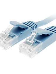 Cat 6 Stecker auf Stecker Netzwerkkabel Wohnung Typ Blau (3M)