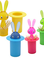 Cartoon Mr. Rabbit Automatic Toothpick Holder (Random Color)