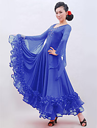 Ballroom Dance Dresses Women's Training Tulle / Viscose Tassel(s) Natural