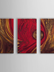 Ручная роспись Абстракция 3 панели Холст Hang-роспись маслом For Украшение дома