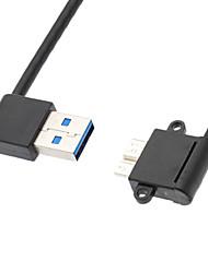 usb 3.0 90 graden naar rechts om micro-usb 3.0 90 graden naar links m / m harde schijf-kabel (0,2 m)