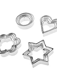 Geometrical Shaped Stainless Steel Cookie Cutters Set (20-Pack)