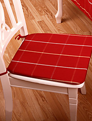 Red Polyester Square Chair Pads