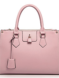 Nucelle Buckle balançant en cuir de vache double usage sac rose