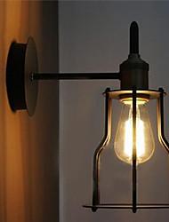 Luz de pared artístico 60W con marco de metal de estilo retro de fábrica