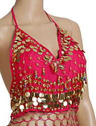 Dancewear Chiffon With Coins And Beading Belly Dance Top for Ladies