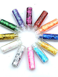 12PCS Multi-color Glitter Strips Nail Art Decorations