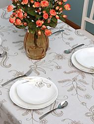 Country Style Padrão Floral Embroid pano de linho de mesa