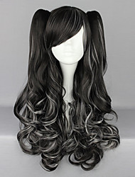 Lolita Wigs Punk Lolita Lolita Long / Curly White / Black Lolita Wig 70 CM Cosplay Wigs Solid Wig For Women