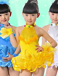 Rendimiento Dancewear Hermosa Spandex con lentejuelas tul vestido de la danza del ballet para los niños (más colores)