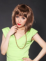 Capless Short Bob High Quality Synthetic Chocolate Brown Straight Hair Wig