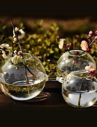 Table Centerpieces Creative Round Connected Glass Vase Centerpiece  Table Deocrations