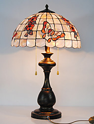 40W Characteristic Noble Table Lamp With Peacock Pole And Fruit Pattern