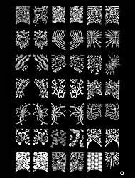 Ногтей штамп штамповка изображения шаблона плиты Абстрактные