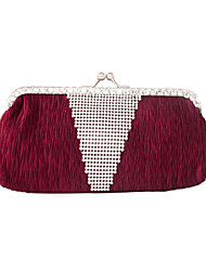 Colormoon Diamant Satin Clutch Bag Falte