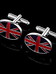 "Gift Groomsman ""Union Jack"" Cufflinks In Gift Box"