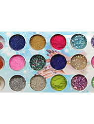 18-color Mixed Nail Decorations Sequins Velvet Glitter Powder Dried Flowers Caviar