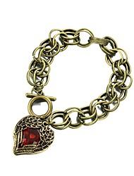 Vintage Крыло ангела с красный браслет ссылка сердца