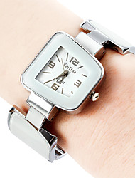 Damen Armband-Uhr Quartz Band Armreif Elegante Schwarz Weiß Blau Rosa Gelb Marinenblau Marke