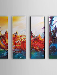 Hand Painted Oil Painting Abstract Set of 4 1307-AB0522