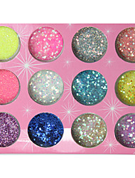 12-color Glitter Powder Sequins Nail Decorations