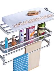 Space Aluminium Towel Rack and Storage Shelf