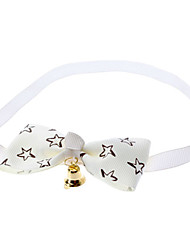 Cat / Dog Collar Bow Tie / With Bell White / Green / Blue / Pink / Yellow Nylon