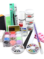 19PCS Acrylic Powder Nail Art Kits