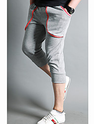Men's Zipper Cropped Pants With Piping Details