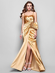 Formal Evening / Prom / Military Ball Dress - Gold Plus Sizes / Petite A-line / Princess Sweetheart / Spaghetti Straps Floor-length