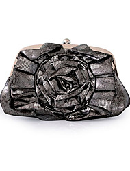 Colormoon Glossy Flower Clutch Bag